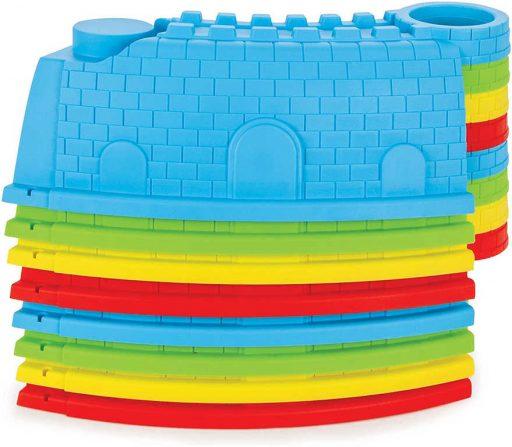 Baby pískoviště sestavitelné ohrádka hradby 88cm set s nástroji a bábovičkami
