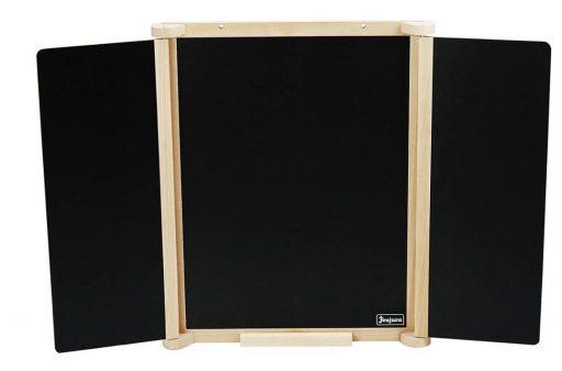 Jeujura Dřevěná trojkřídlá oboustranná tabule 82x56 cm s příslušenstvím