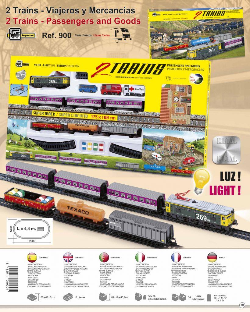 Pequetren 2 TRAINS: PASSENGERS AND GOODS – dva vlaky: osobní a nákladní