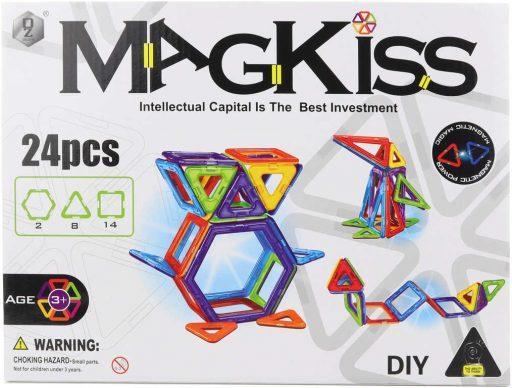 Magkiss magnetická stavebnice 24ks dílků v krabici