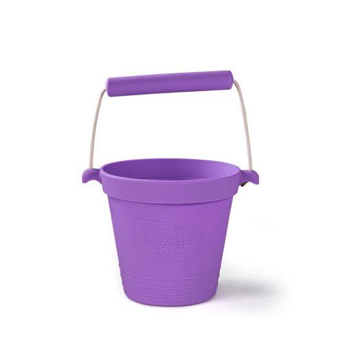 Bigjigs Toys Plážový kyblíček fialový