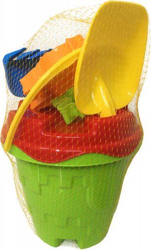 PL Baby pískový set kyblík hrad s formičkami a nástroji 6ks