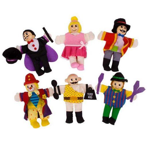 Bigjigs Toys Prstoví maňásci sada Cirkusoví baviči - poškozený obal