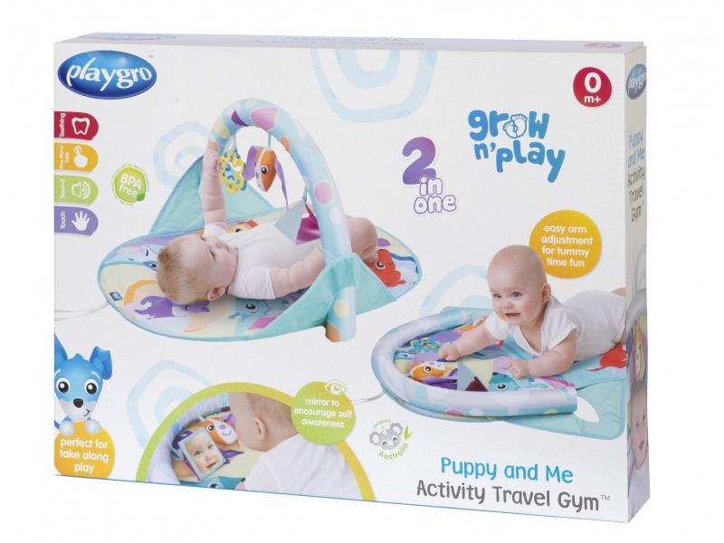 Playgro - Cestovní hrací podložka se štěňátky