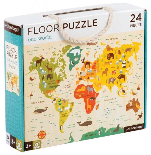 Petit Collage Podlahové puzzle náš svět