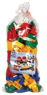 STAVEBNICE Kostky Bobo plastové set 150ks v sáčku s doplňky