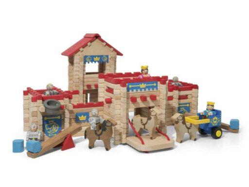 Jeujura Dřevěná stavebnice 300 dílů hrad