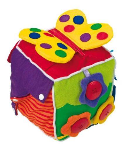 Small Foot Plyšová hračka kostka pro nejmenší