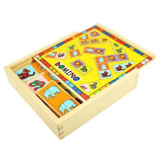 Bigjigs Toys Dřevěné domino se zvířátky