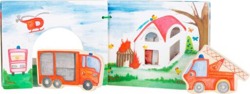 Small Foot Dřevěná knížka hasiči