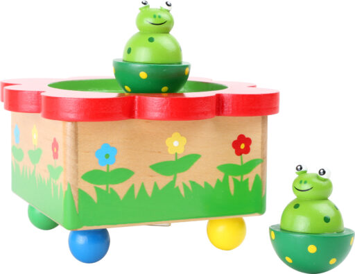 Small Foot Dřevěná hrací skříňka žabka