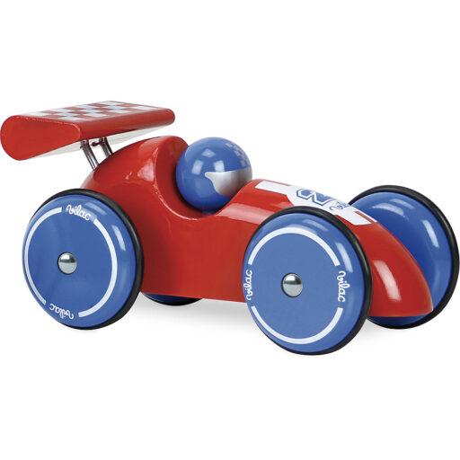 Vilac Závodní auto XL červené s červeným křídlem