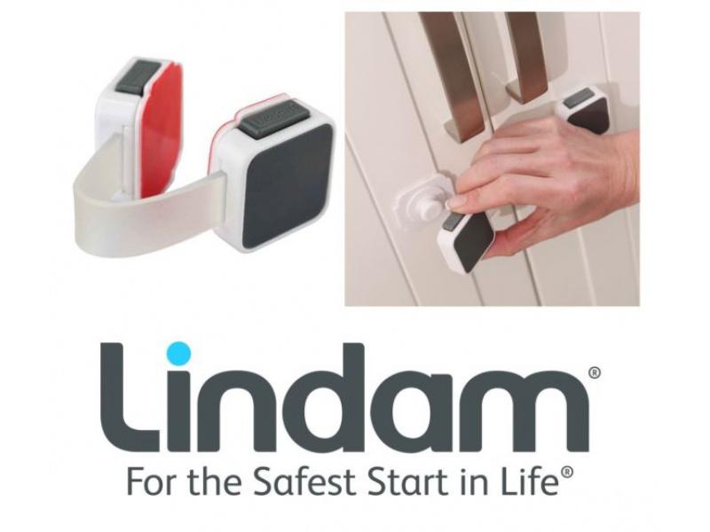 Lindam - Dvojitá víceúčelová bezpečnostní zábrana nalepovací 1ks (Xtra Guard)