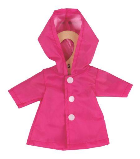 Bigjigs Toys Růžový kabátek pro panenku 28 cm