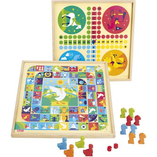 Jeujura Tradiční hry 2v1 v dřevěném boxu