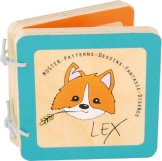 Small Foot Dřevěná knížka Lex