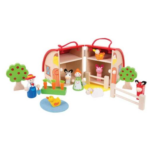 Bigjigs Toys Farma v kufříku