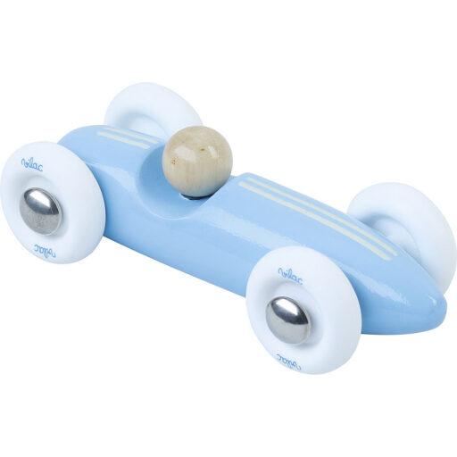 Vilac Dřevěné auto mini Grand prix vintage světle modré