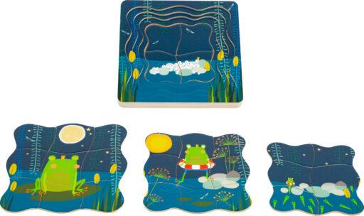 Small Foot Vrstvené puzzle princ žabák