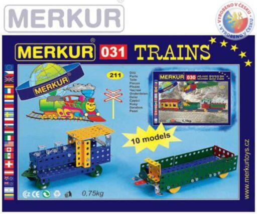 MERKUR 031 Železniční modely * KOVOVÁ STAVEBNICE *