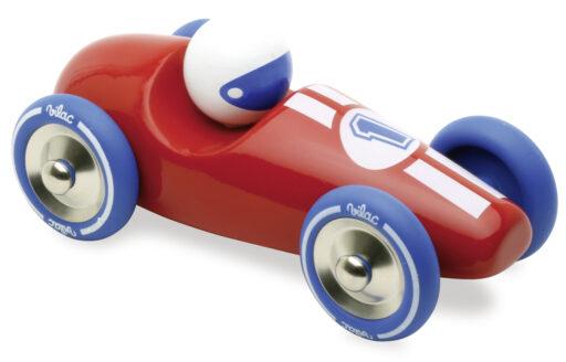 Vilac Závodní auto GM červené s modrými koly