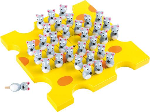 Small Foot Dřevěná hra solitaire hladové myši
