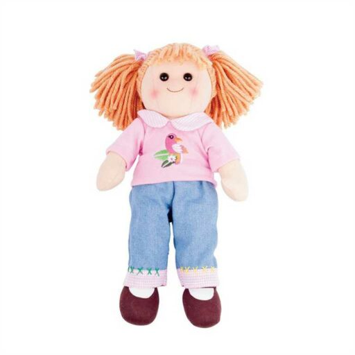 Bigjigs Toys Látková panenka Molly 38 cm