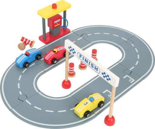 Small Foot Dřevěná závodní dráha s autíčky