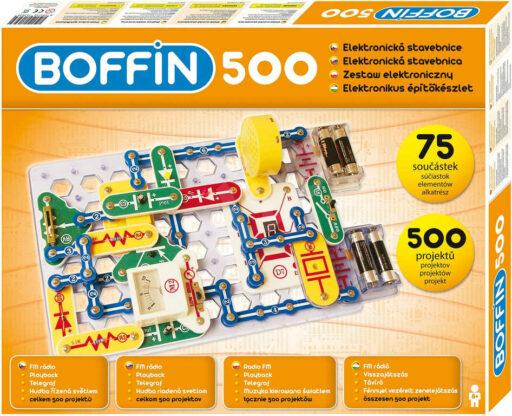 Boffin 500 projektů 75 součástek na baterie elektronická STAVEBNICE