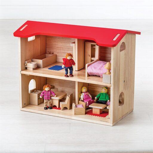 Bigjigs Toys Domeček pro panenky kompletní