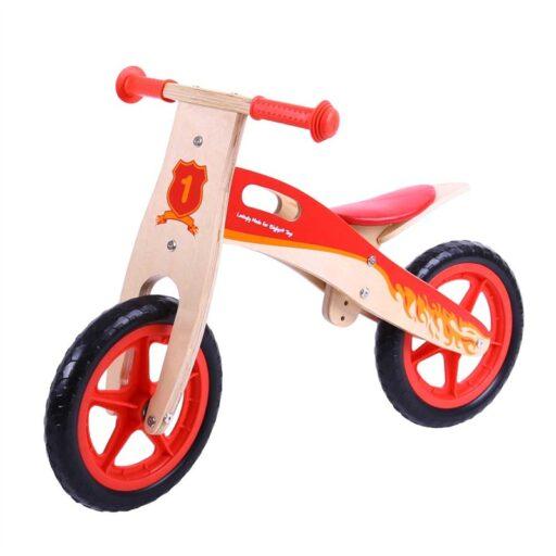 Bigjigs Toys Dřevěné odrážedlo červené