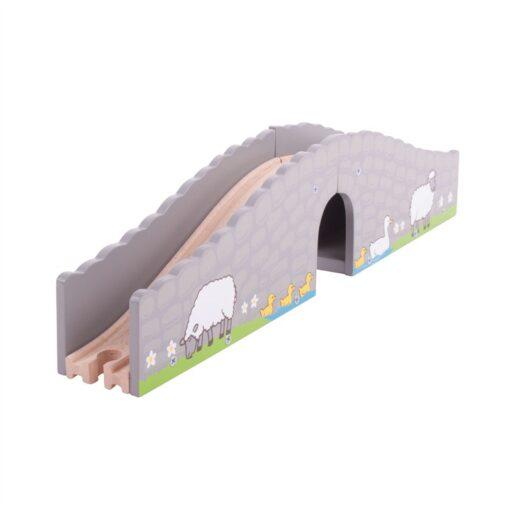 Bigjigs Rail Farma most s tunelem
