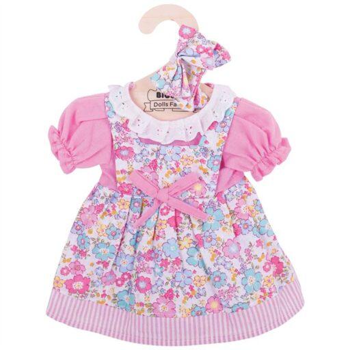 Bigjigs Toys Růžové květinové šaty pro panenku 38 cm
