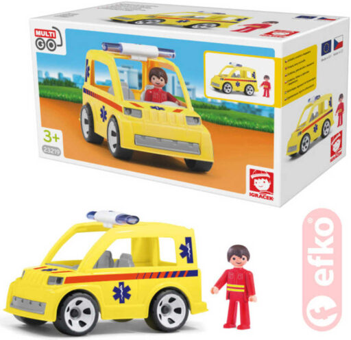 EFKO IGRÁČEK MultiGO Ambulance se zachranářem a doplňky STAVEBNICE