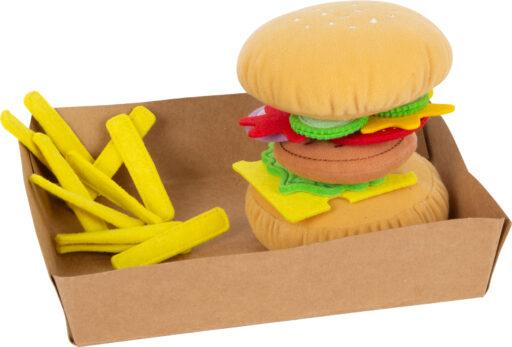 Small Foot Látkový hamburger s hranolky