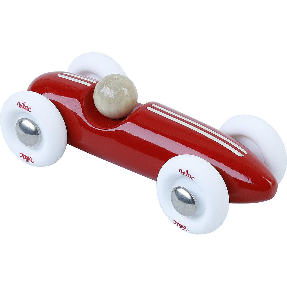 Vilac Dřevěné auto mini Grand prix vintage červené