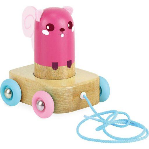 Vilac Tahací hračka a chrastítko veverka