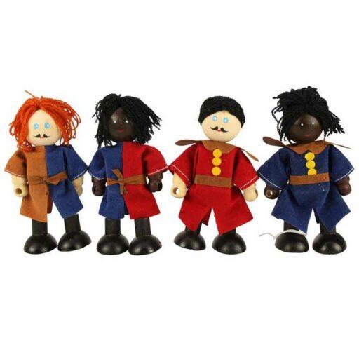 Bigjigs Toys Set středověkých vojáků 4ks
