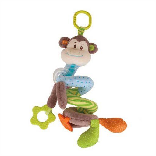 Bigjigs Baby Textilní postavička spirála opička Cheeky