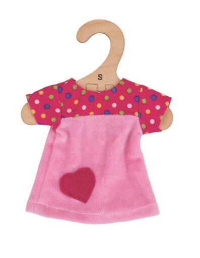 Bigjigs Toys Růžové tričko se srdíčkem pro panenku 28 cm