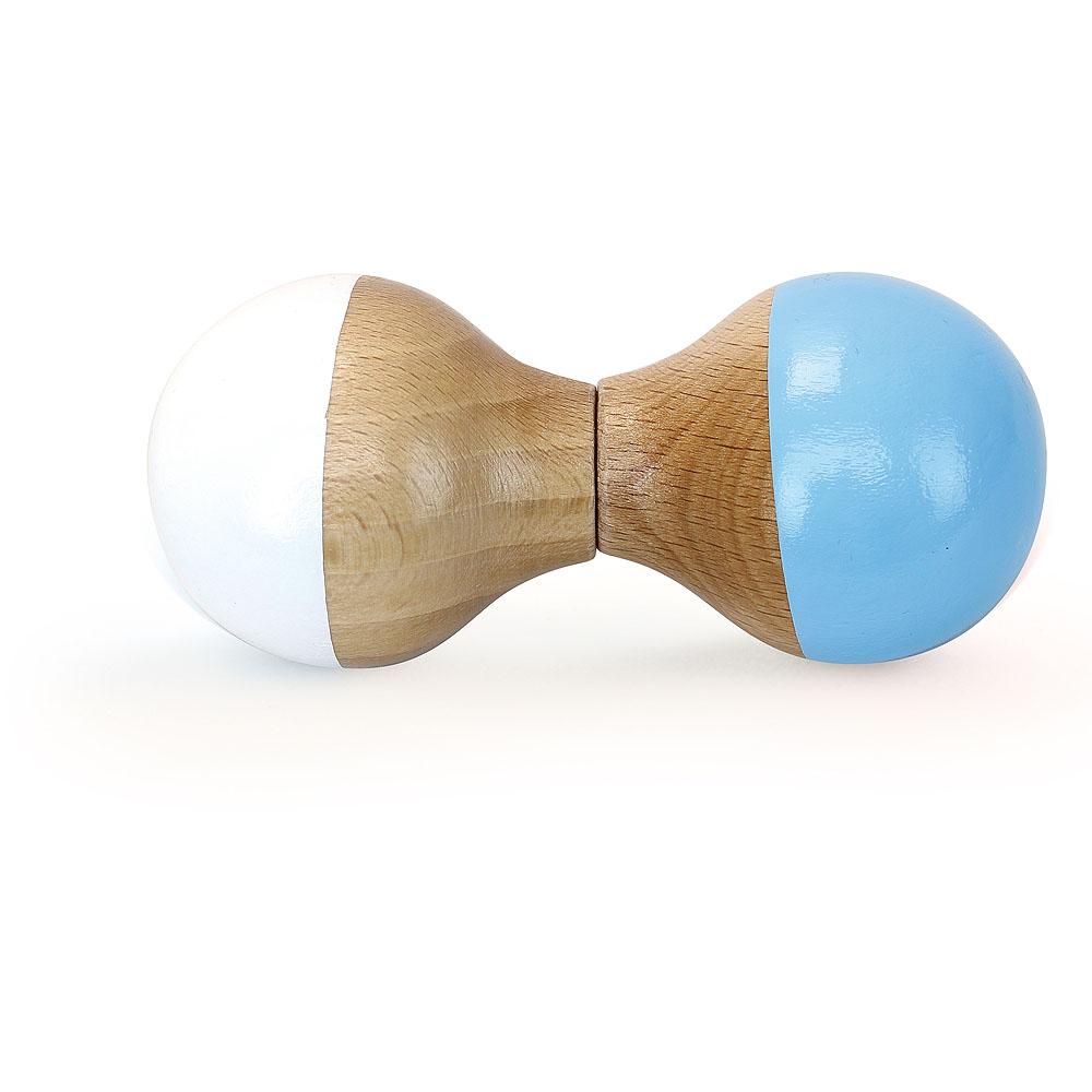 Vilac Dřevěné chrastítko bílo - modré