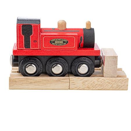 Bigjigs Rail Dřevěný vláček Teriér červený