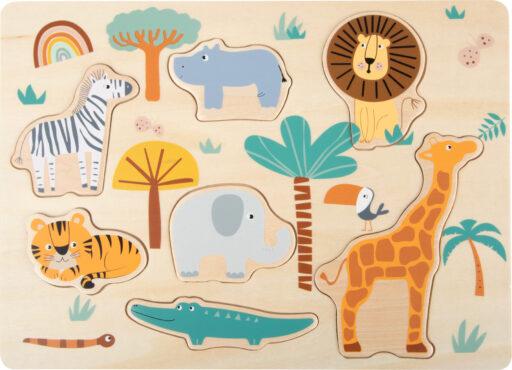 Small Foot Vkládací puzzle Safari