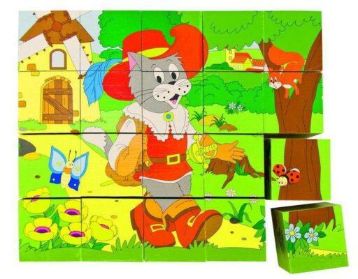 OLYMPTOY DŘEVO Kubus (kostky) 4x5 Pohádky