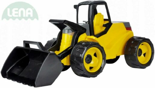 LENA Nakladač funkční Giga Trucks žluto-černé odrážedlo 75cm na písek v krabici