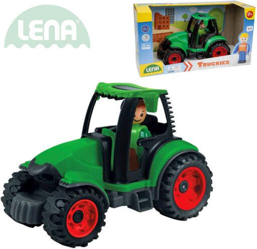 LENA Truckies traktor 17cm set baby autíčko + panáček 01624 plast
