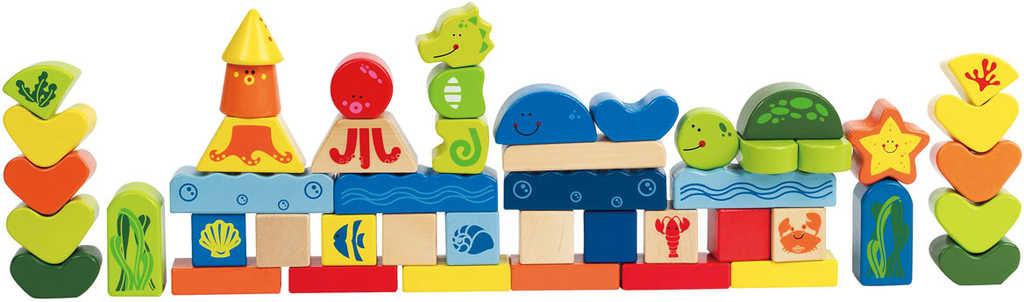 HAPE DŘEVO Kostky moře dětský kubus set 48ks *DŘEVĚNÉ HRAČKY*