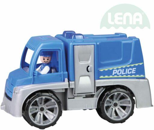 LENA Truxx auto funkční Policie 29cm set s figurkou volně plast