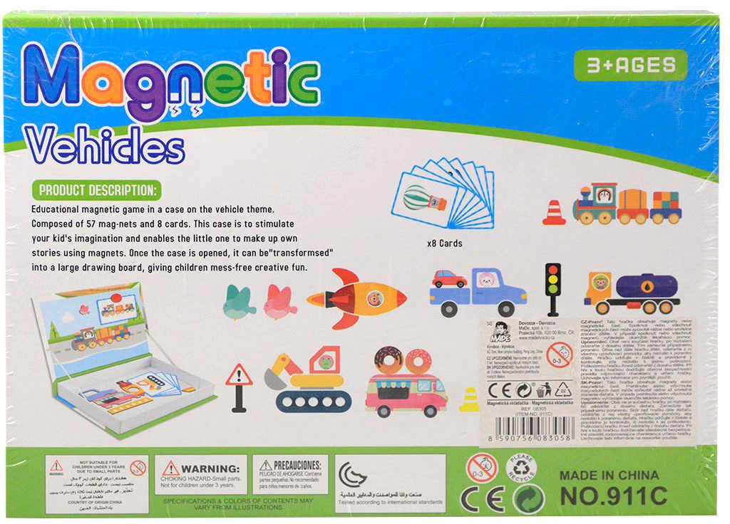 Puzzle magnetické Dopravní prostředky skládačka v krabici